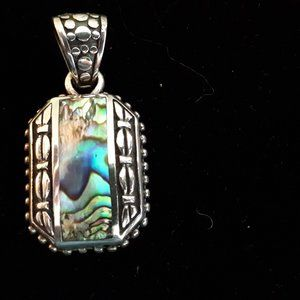 Abalone and 925 Silver Pendant